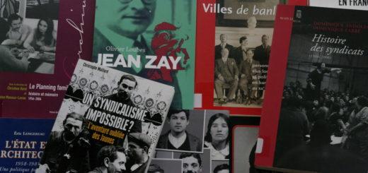 Photo d'une sélection de livres de la bibliothèque Jean Maitron